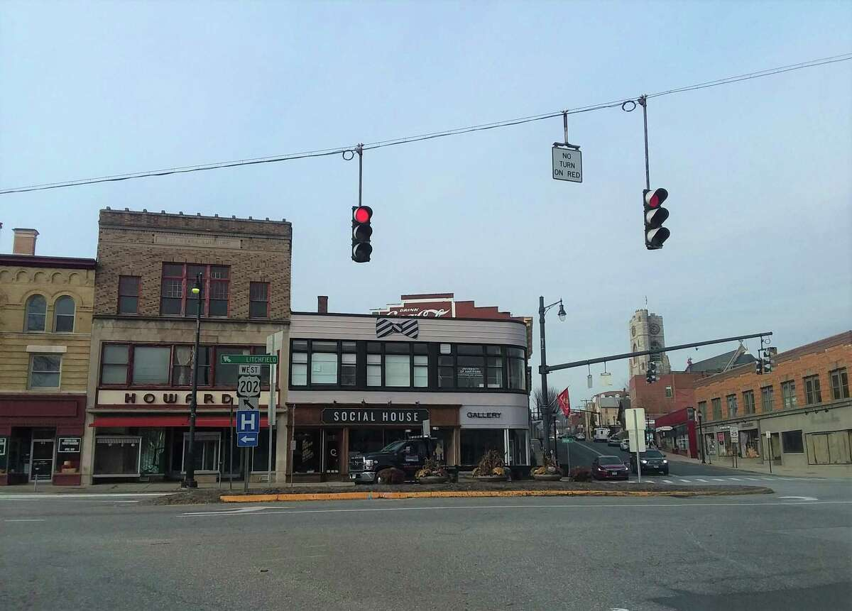 Downtown Torrington at the corner of East Main and Main streets.