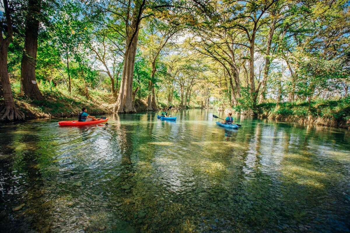 Medina RiverBandera, TX Travel down these picturesque lazy rivers for a spring break getaway with tubing, swimming, kayaking, sightseeing, or just a leisurely stroll soaking in the calm and tranquility nature has to offer in these Texas treasures.