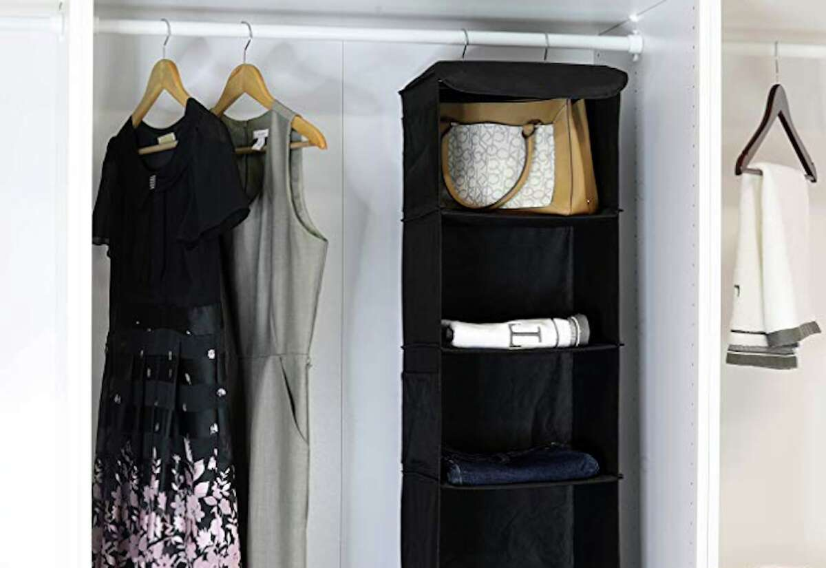 Simple Houseware 5 Shelves Hanging Closet Organizer, $12.97