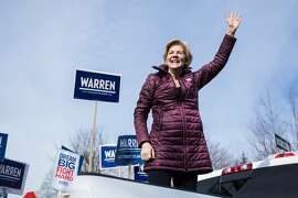CAMBRIDGE, MA - MARCH 03:  Democratic presidential candidate Sen. Elizabeth Warren (D-MA) delivers remarks to supporters after casting her vote at the Graham & Parks School during the Primary Election on March 3, 2020 in Cambridge, Massachusetts. 1,357 De