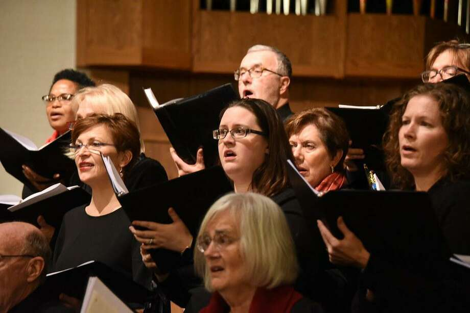 """The Langston Hughes poem """"Spirituals"""" inspires Music on the Hill's opening concert, """"Song is a Strong Thing,"""" on March 22 in Wilton. Pictured is Music on the Hill's Festival Chorus, spring 2018. Photo: Music On The Hill / Contributed Photo"""