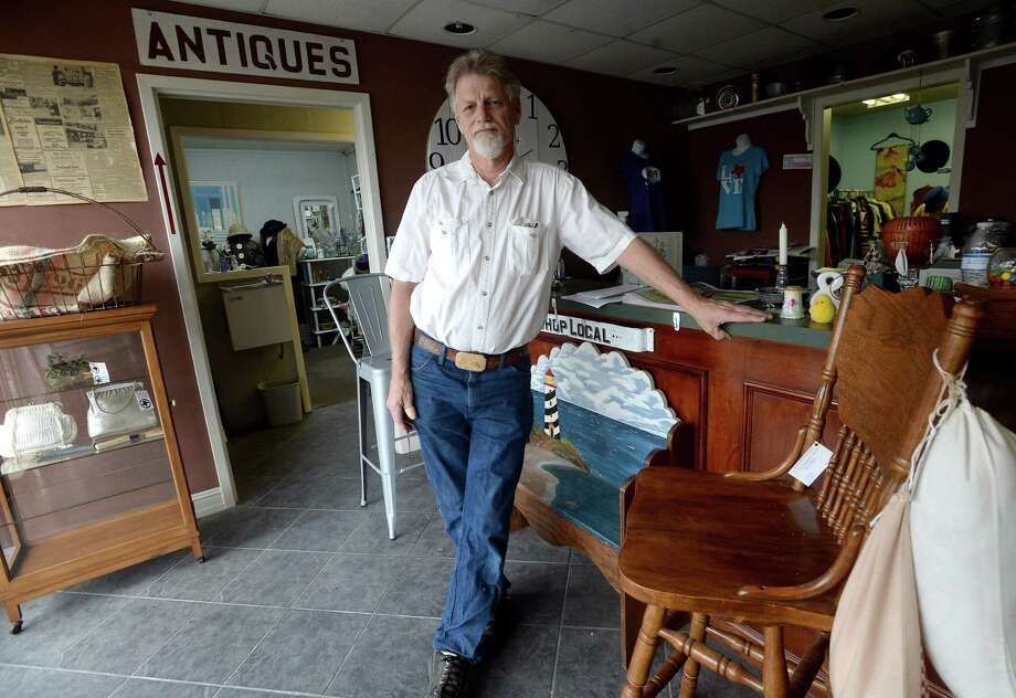 Dennis Benge, owner of Texas Reclaimed, stands inside the recently opened antique mall Shops at Midtown. While his business is the anchor of the new business on Calder, which used to be long-time home of Suburban TV, various regional vendors also have booths in the showrooms.  Photo taken Monday, March 2, 2020 Kim Brent/The Enterprise Photo: Kim Brent / The Enterprise / BEN