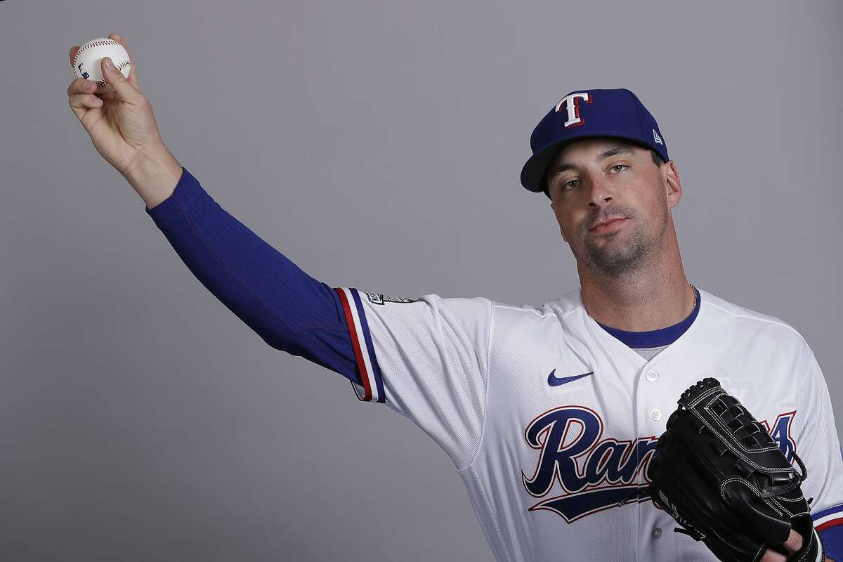 This is a 2020 photo of Taylor Guerrieri of the Texas Rangers baseball team. This image reflects the Texas Rangers active roster as of Wednesday, Feb. 19, 2020, when this image was taken. (AP Photo/Charlie Riedel)