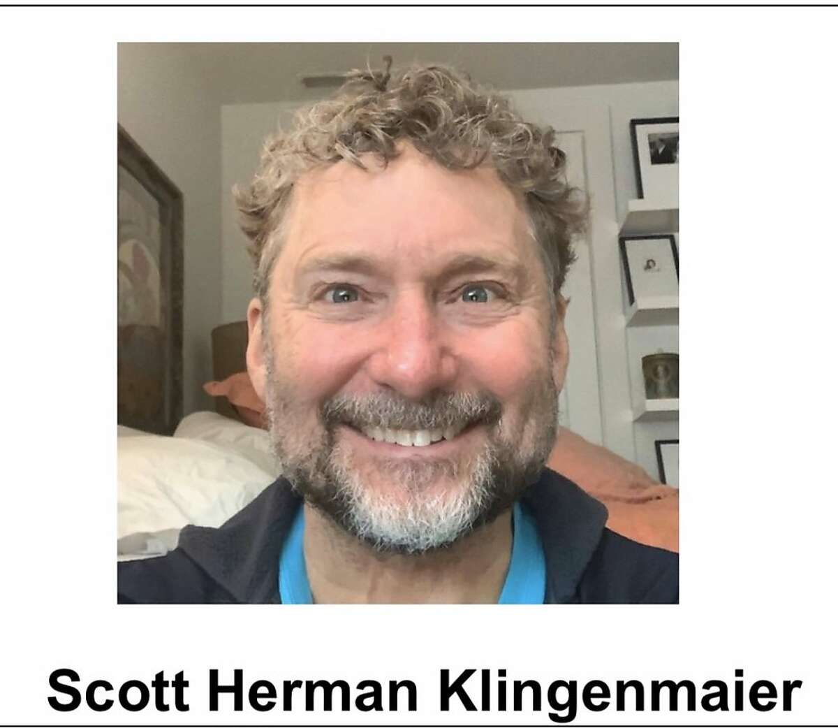 Officials found Scott Klingenmaier, 56, dead after he was last seen going for a hike on Thursday near Tennesee Valley Road and Oakwood Trail, according to the Sheriff's Office.