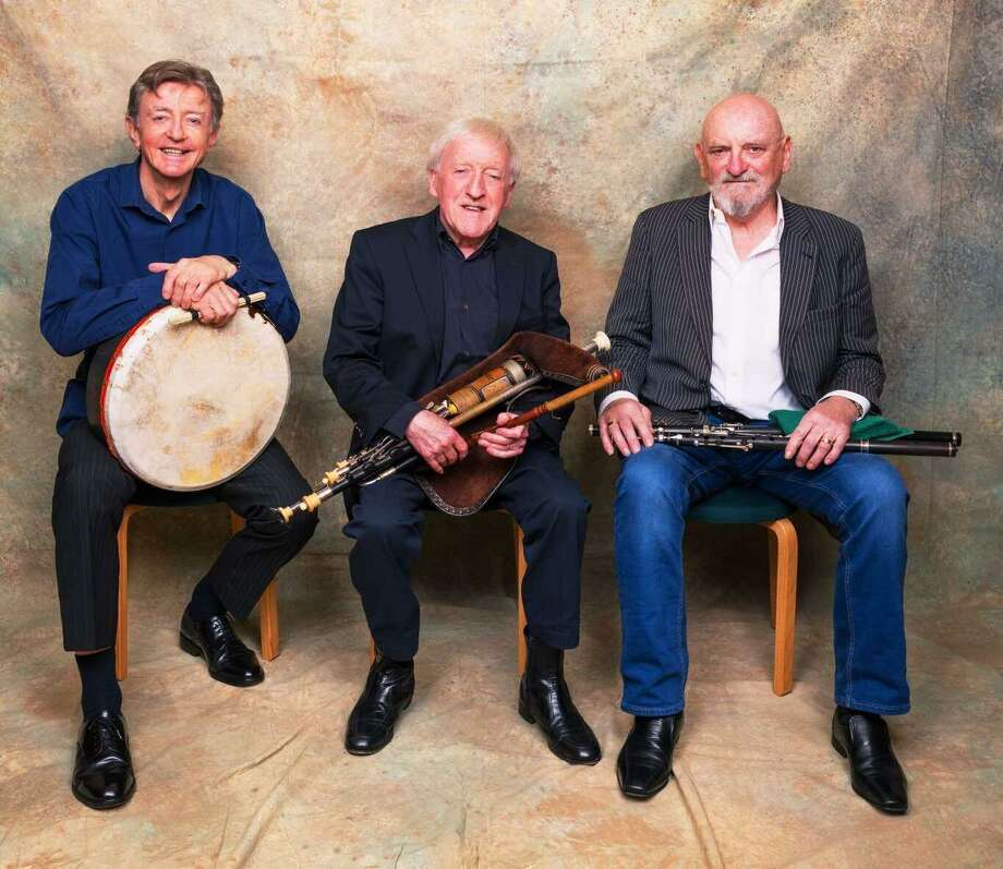 The Chieftains are a traditional Irish band formed in Dublin in 1962, by Paddy Moloney, Sean Potts and Michael Tubridy. The legendary Irish folk group returns to the Jorgensen Center For The Performing Arts Center in Storrs on their last ever trip to the United States, at 8 p.m. March 14. Photo: The Chieftains / Contributed Photo