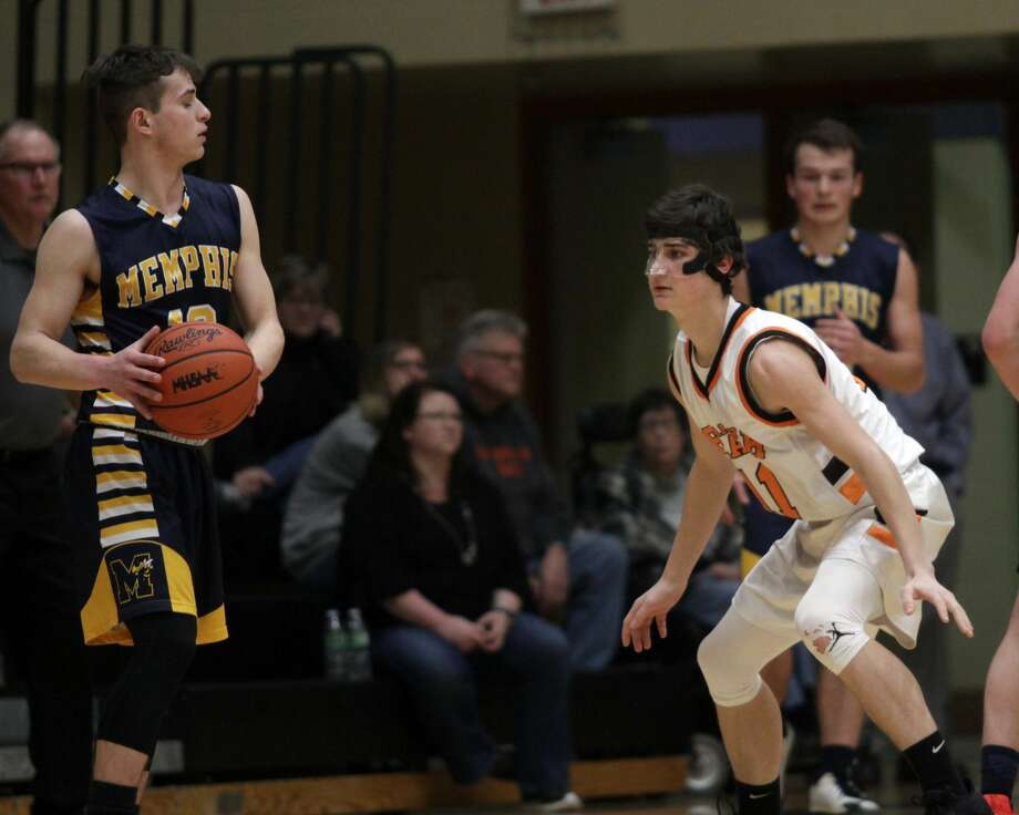 The Harbor Beach boys basketball team logged a 51-36 win over Memphis at home on Tuesday, March 3. Photo: Eric Rutter/Huron Daily Tribune