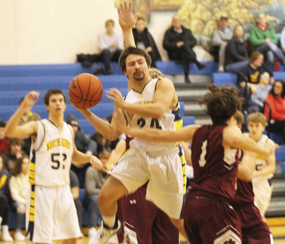 The North Huron Warriors held off visiting Mayville on Tuesday night for a 39-37 win. Photo: Mark Birdsall/Huron Daily Tribune
