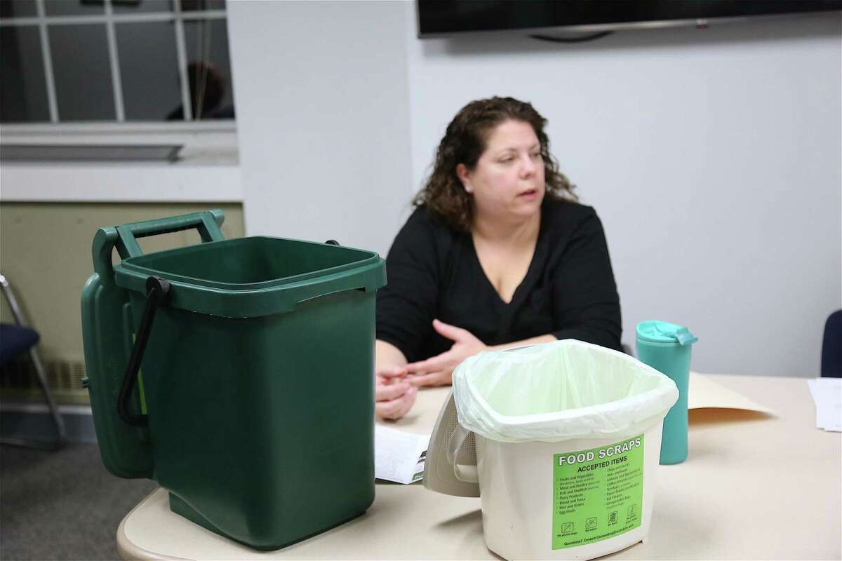Jessica Paladino, the city's waste programs manager, talks about the new composting bins that will be for sale next month as part of a pilot program.