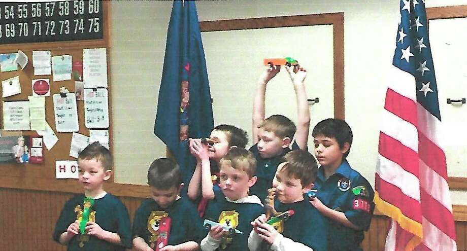 Cub Scouts Bryce, Matthew Huber, Quintin Germain, Michael Perkings, Bra'lynd Kern, Gabriel McDonald, Elijah Sharp-Siel and Lucas Sharp. Not pictured is Scoutmaster Joanna Cooley. (Photo provided)