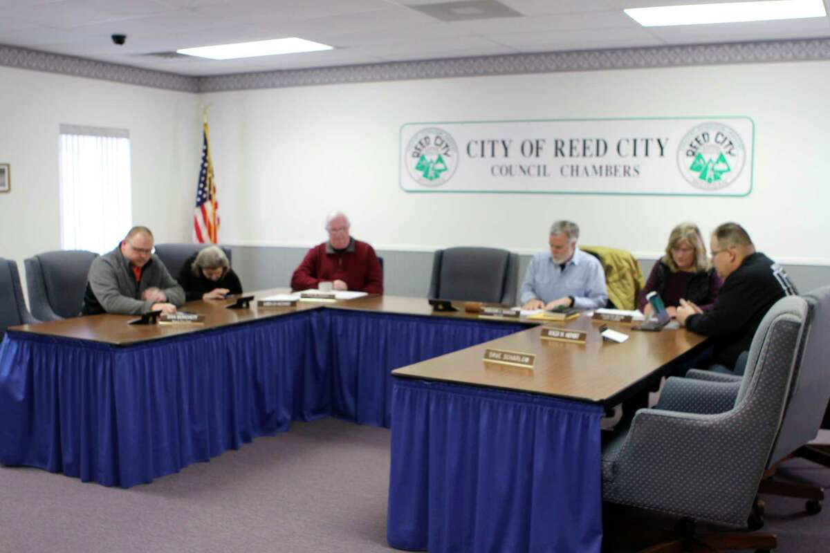 The Reed City city council unanimously approved Officer Chris Lockhart as the new chief of police at a special meeting Feb. 28. Lockhart will begin his duties as Police Chief in a couple of weeks. (Herald Review photo/Cathie Crew)