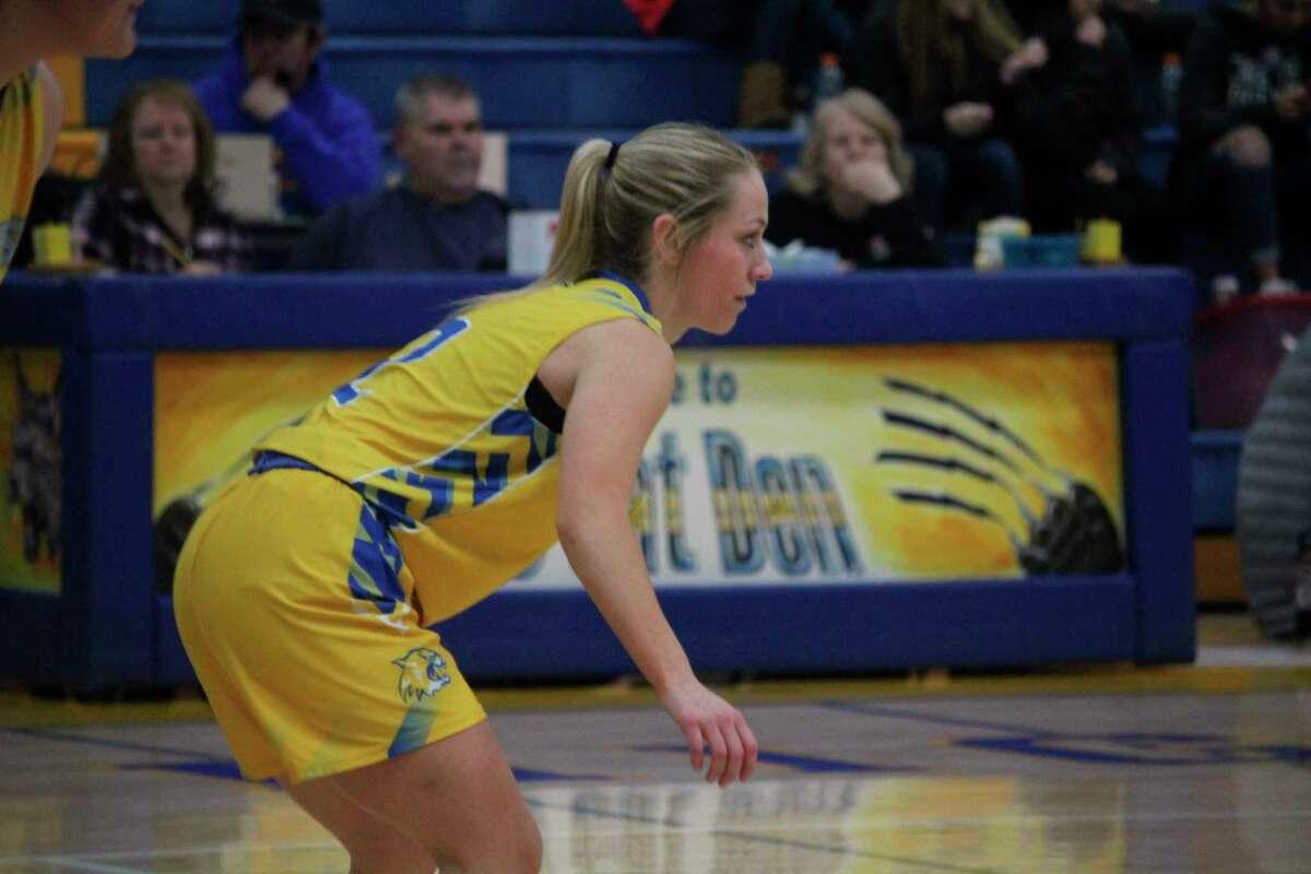 Kaylee Ladd is in her senior season for Evart. (Herald Review photo/John Raffel)