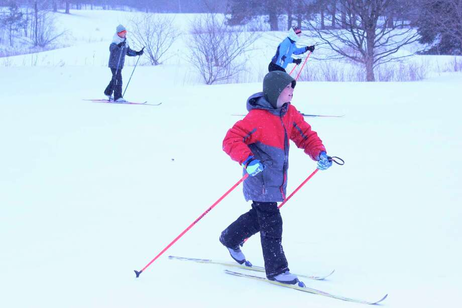 Students from six local schools received cross country ski training this winter through the Nordic Rocks program. (Photo/Robert Myers)
