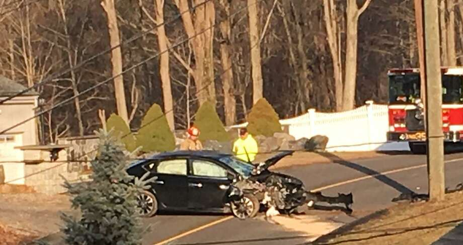 A crash involving a snapped utility pole has closed a portion of Dogburn Road in Orange Wednesday morning on March 4, 2020. Photo: CONTRIBUTED PHOTO