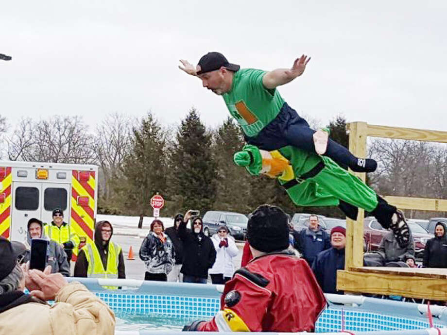 These are scenes from last year's Polar Plunge. Photo: File Photo