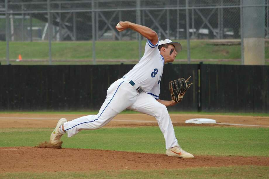 Clear Springs' Mason Schulz (8) is one of several outstanding athletes competing in the Clear Creek ISD baseball tournament which begins Thursday. Photo: Kirk Sides / Staff Photographer / © 2019 Kirk Sides / Houston Chronicle