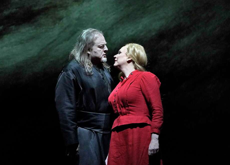 "Evgeny Nikitin as the Dutchman and Anja Kampe as Senta in Wagner's ""Der Fliegende Holländer"" will be broadcast live in HD at the Warner Theatre from the Metropolitan Opera in New York City. Photo: Ken Howard, Metropolitan Opera / Contributed Photo /"
