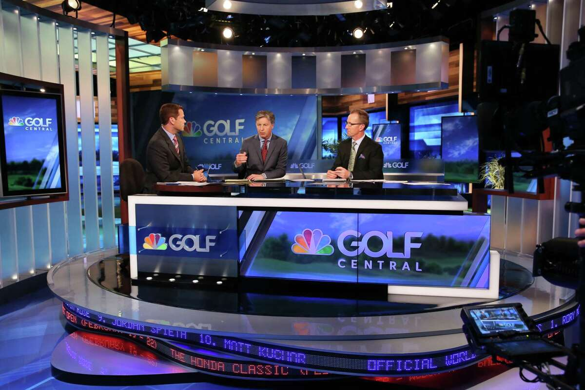 The Golf Channel plans to relocate most of its television production from Orlando to Stamford, with the relocated shows including Golf Central. From left, in a taping of a Golf Central episode from the 2015 season, are Ryan Burr, Brandel Chamblee and David Duval.