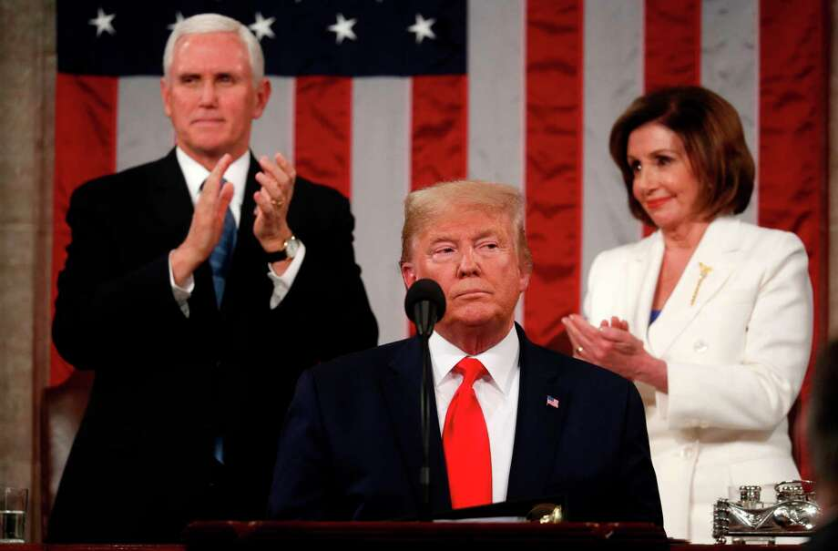 U.S. President Donald Trump delivers his State of the Union address at the US Capitol in Washington, D.C., on Feb. 4. Photo: Leah Millis / AFP Via Getty Images / AFP