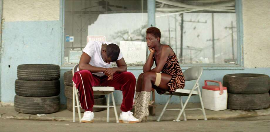 "This image released by Universal Pictures shows Daniel Kaluuya as Slim, left, and Jodie Turner-Smith as Queen from the film ""Queen & Slim,"" directed by Melina Matsoukas. (Universal Pictures via AP) Photo: Associated Press / (c) 2019 Universal Pictures. All Rights Reserved."
