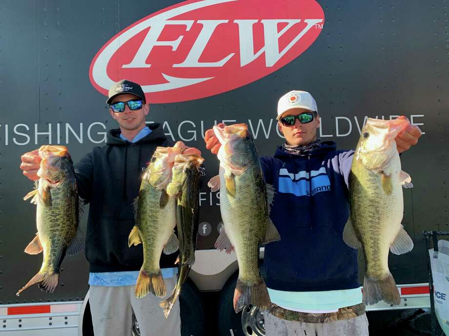 Sam Houston State University students Mason Hoke, left, and Jayce Garrison finished second in the FLW College National Championship last week in Florida. Photo: Photo Submitted