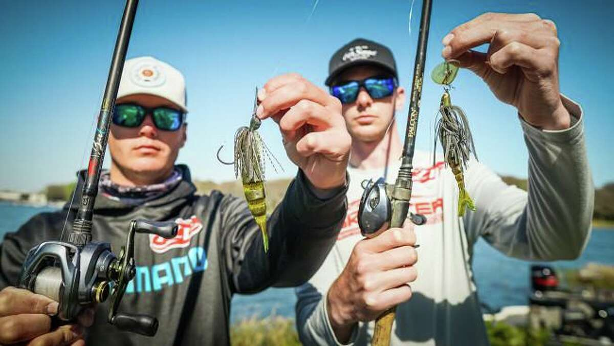 Sam Houston State University students Jayce Garrison, left, and Mason Hoke finished second in the FLW College National Championship this past weekend in Florida.