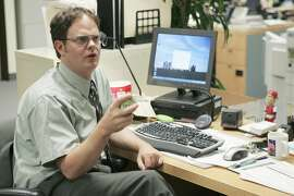 "THE OFFICE -- ""The Dundies"" Episode 1 -- Aired 09/20/2005 -- Pictured: Rainn Wilson as Dwight Schrute -- Photo by: Justin Lubin/NBCU Photo Bank"