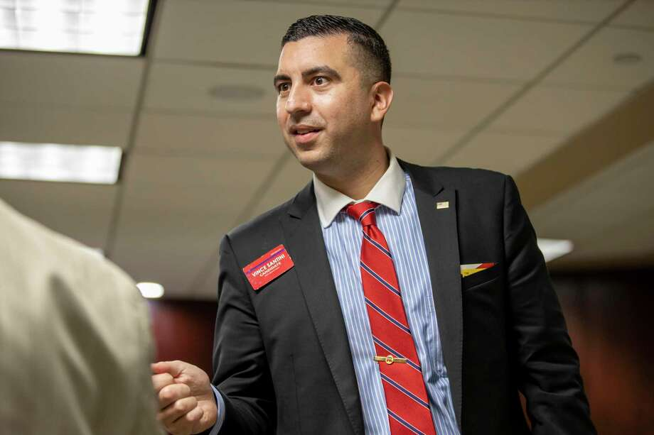 Vince Santini, republican candidate for the 457th state District Court, will face off with Eric Yollick in the May 26 runoff election. Photo: Gustavo Huerta, Houston Chronicle / Staff Photographer / Houston Chronicle