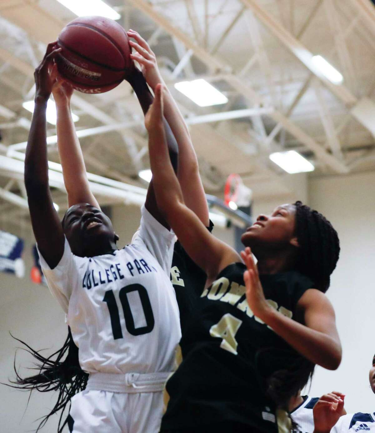 College Park power forward Ali Diop (10) was named the District 15-6A Newcomer of the Year.
