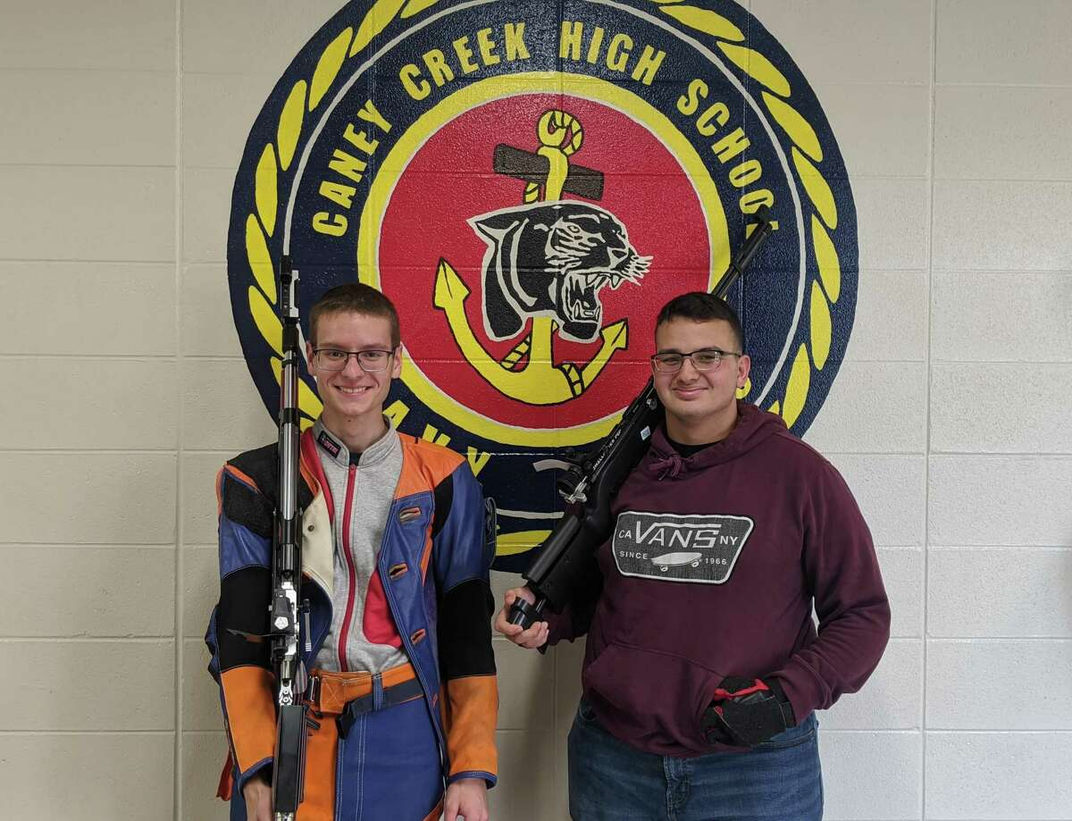 Freshman Theodore Clark, left, and senior Edwin Padilla, right, will be representing Caney Creek at All Services Nationals and the Junior Olympics, respectively.