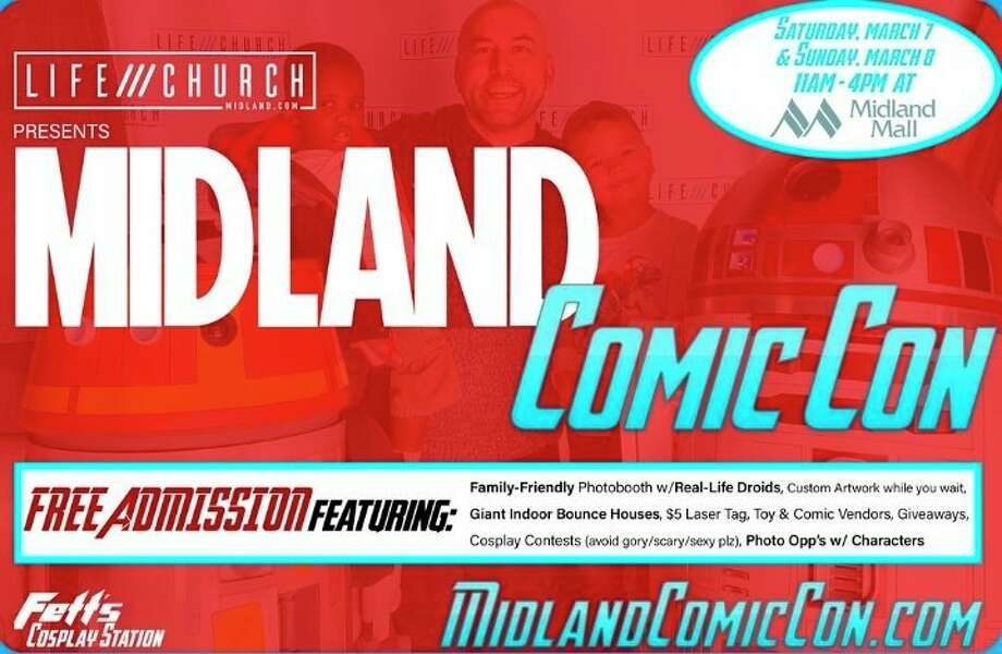Life Church in Midland is hosting a free, family fun Comic Con at the Midland Mall on March 7 and 8, 2020. (Website photo)