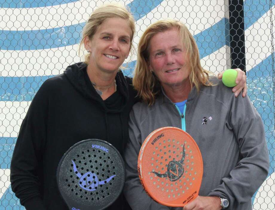 Platform tennis pros Amy Shay of Wilton, left, and Cynthia Dardis of the Lake Club, will team up in the American Platform Tennis Association Men's and Women's National Championships, March 5-8, at club's around the county. Photo: Contributed Photo / / Wilton Bulletin Contributed