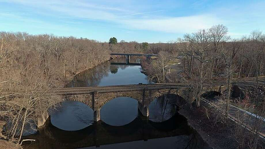 The Farmington River in Windsor, photographed Jan. 9, 2020, was contaminated with chemicals from firefighting foam during an incident upstream at Bradley International Airport in Windsor Locks. Photo: Doug Hardy / CTNewsJunkie.com