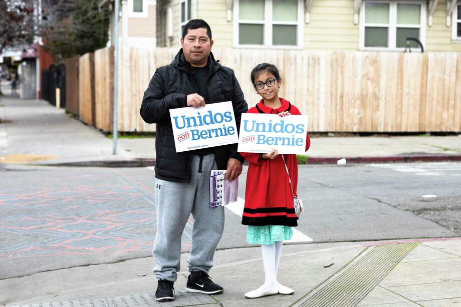 Latino voters have carried Sen. Bernie Sanders in a number of states. It's an odd political pairing, but it also works. Photo: Constanza Hevia H. /Special To The Chronicle / ONLINE_YES