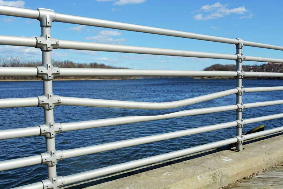 The Common Council recently approved a project to replace wood decking with concrete sidewalks, a safety railing, unit pavers and shade pavilions at Harbor Park. The work is expected to improve accessibility and safety along the Connecticut River in Middletown. Photo: Cassandra Day / Hearst Connecticut Media
