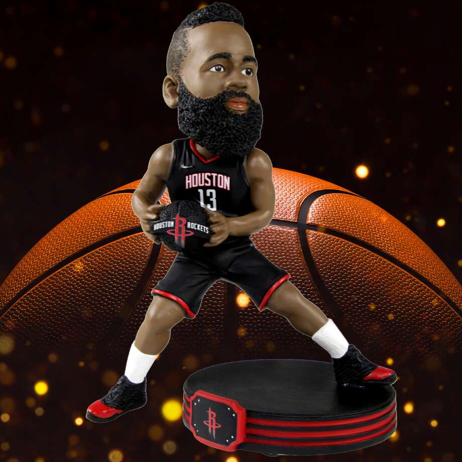 This limited edition James Harden bobblehead is only available through the National Bobblehead Hall of Fame website. Photo: Courtesy: National Bobblehead Hall Of Fame And Museum