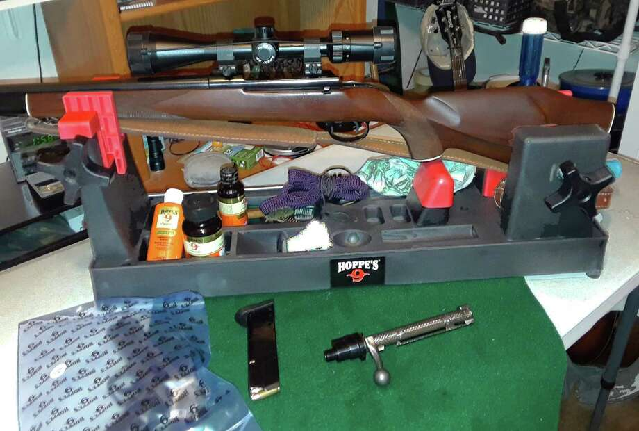 Cleaning  your guns is a good way to spend a pleasurable, productive and relaxing time. Photo: Larry J. LeBlanc