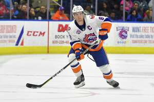 Sound Tigers captain Kyle Burroughs was traded to Colorado on Sunday for left winger A.J. Greer.