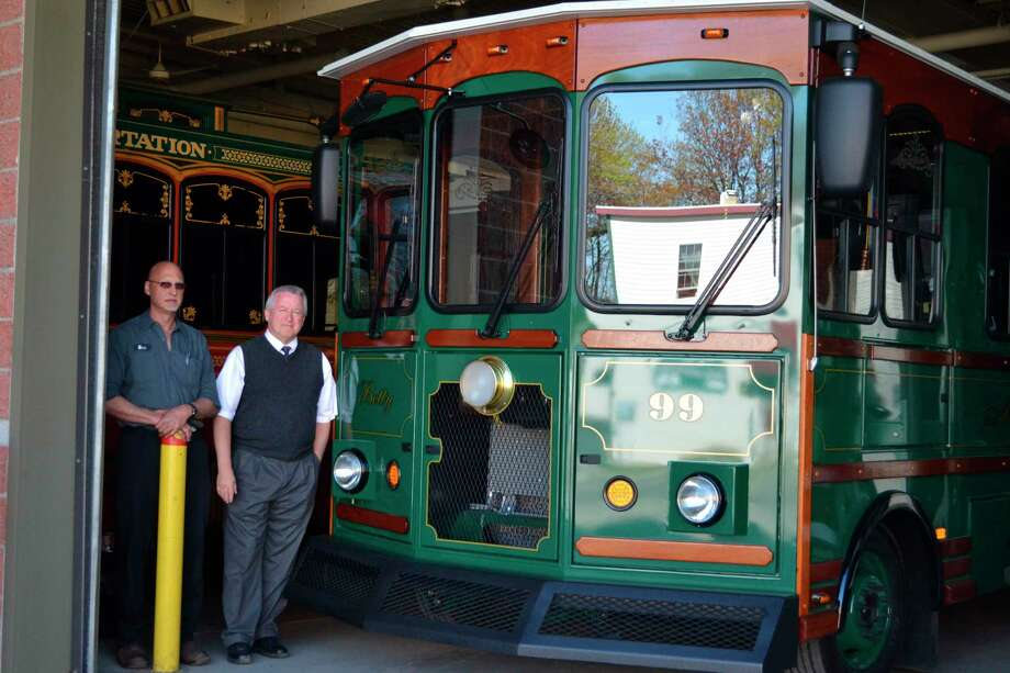 Over the years Dial-A-Ride has expanded on many of its services and even offers trolley rides in the summer. General manager Richard Strevey (right) has been with the company for the past 28 years. (File photo)