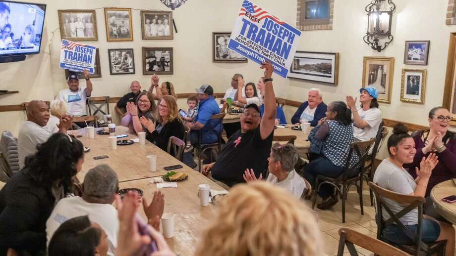 Candidate for Jefferson County Democratic Party Chairman Joseph Trahan held his watch party for friends and supporters for the primary election at Rao's Bakery on Dowlen Road on Tuesday, March 3, 2020.. Fran Ruchalski/The Enterprise Photo: Fran Ruchalski/The Enterprise / 2019 The Beaumont Enterprise