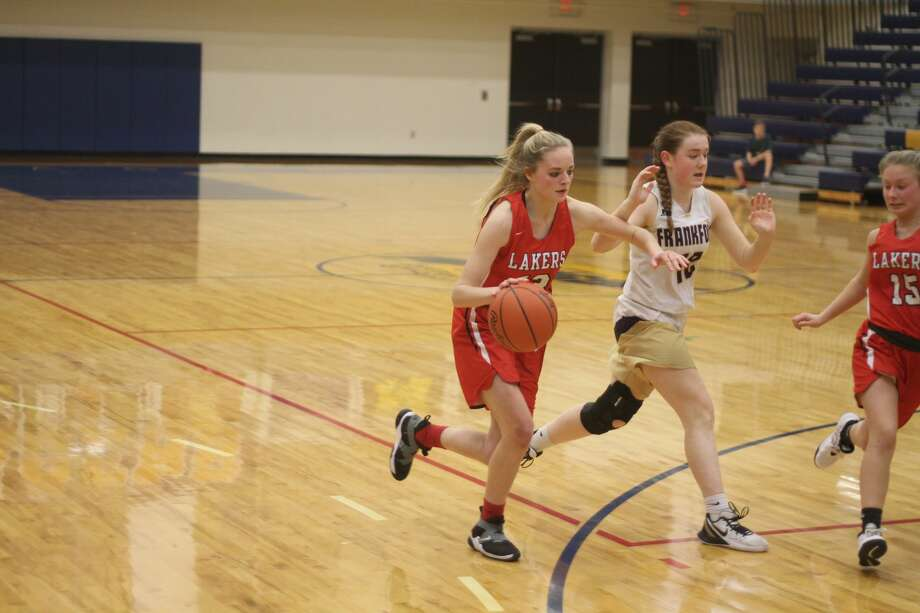 The Bear Lake girls basketball team fell to Frankfort in a district semifinal on Wednesday, March 4, 2020. Photo: Kyle Kotecki/News Advocate