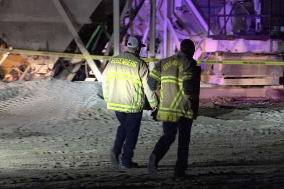 Authorities investigate after a worker died at a Richmond concrete plant Thursday, March 5, 2020.