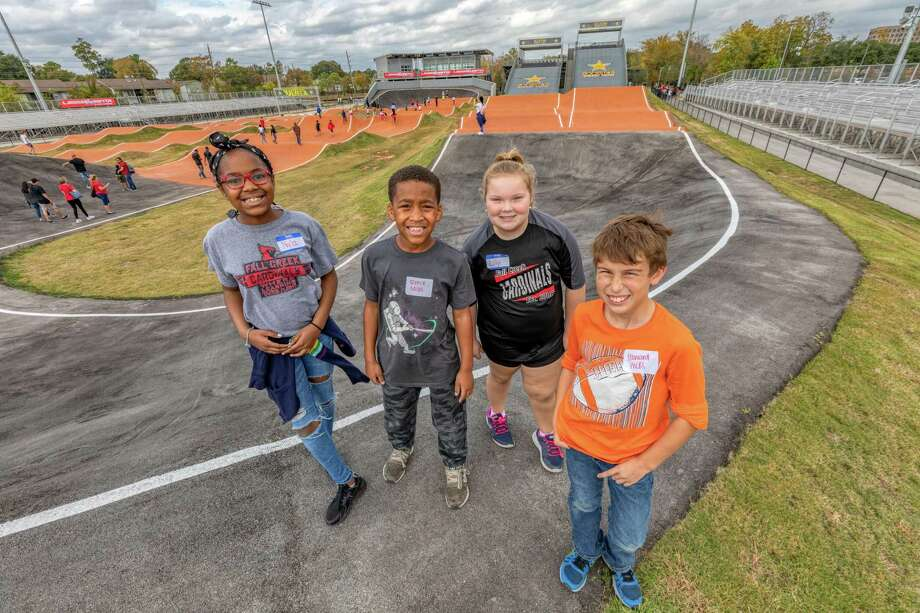 Humble ISD fourth grade teachers offered a Track Modeling Program for the first time this year, created by the USA BMX Foundation to help fourth graders learn STEM skills and how to work as a group. Humble ISD partnered with the Houston Sports Authority and North Houston BMX to bring the program to the district. Photo: Courtesy / Courtesy