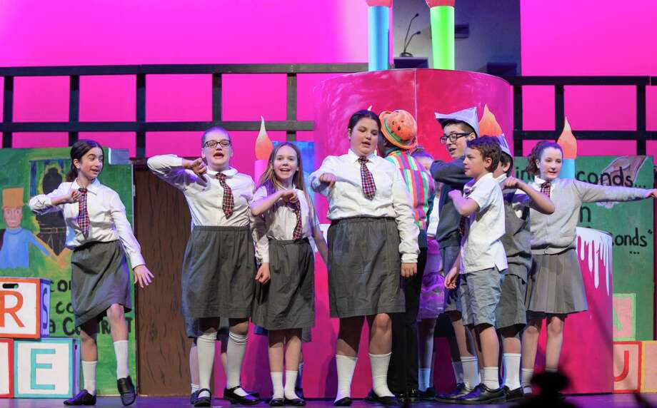 """The Middletown High School production of Roald Dahl's """"Matilda the Musical,"""" being staged by the MHS and Keigwin Middle School drama clubs, will be performed Friday 7 p.m., and Saturday at 1 and 7 p.m. at the Santo Fragilio Performing Arts Center, 200 La Rosa Lane. Tickets for the family-friendly show can be purchased at the door or ordered online at https://middletownpac.ludus.com. Adults are $15 and seniors/students, $12. Photo: Sandy Aldieri / Perceptions Photography"""
