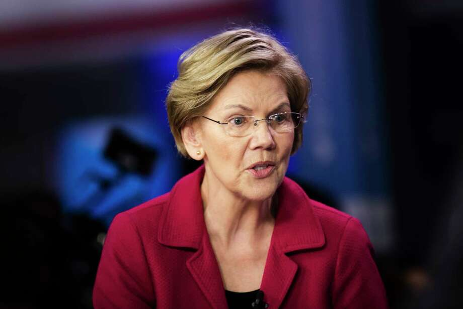 FILE - In this Feb. 25, 2020 file photo, Democratic presidential candidate Sen. Elizabeth Warren, D-Mass., speaks with members of the media after a Democratic presidential primary debate in Charleston, S.C. Photo: Matt Rourke, AP / Copyright 2020 The Associated Press. All rights reserved.