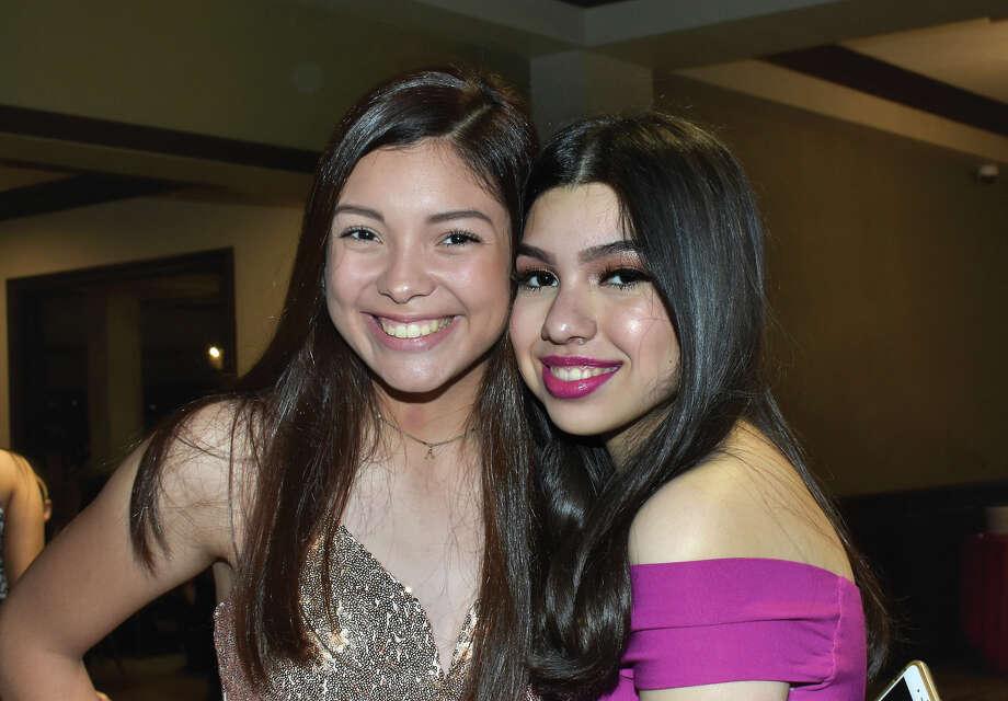 Alyssa Garcia and Carolina Cardenas attending to Pocahontas Pageant and Ball at Laredo Country Club. Photo: Diana Garro