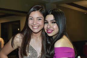 Alyssa Garcia and Carolina Cardenas attending to Pocahontas Pageant and Ball at Laredo Country Club.