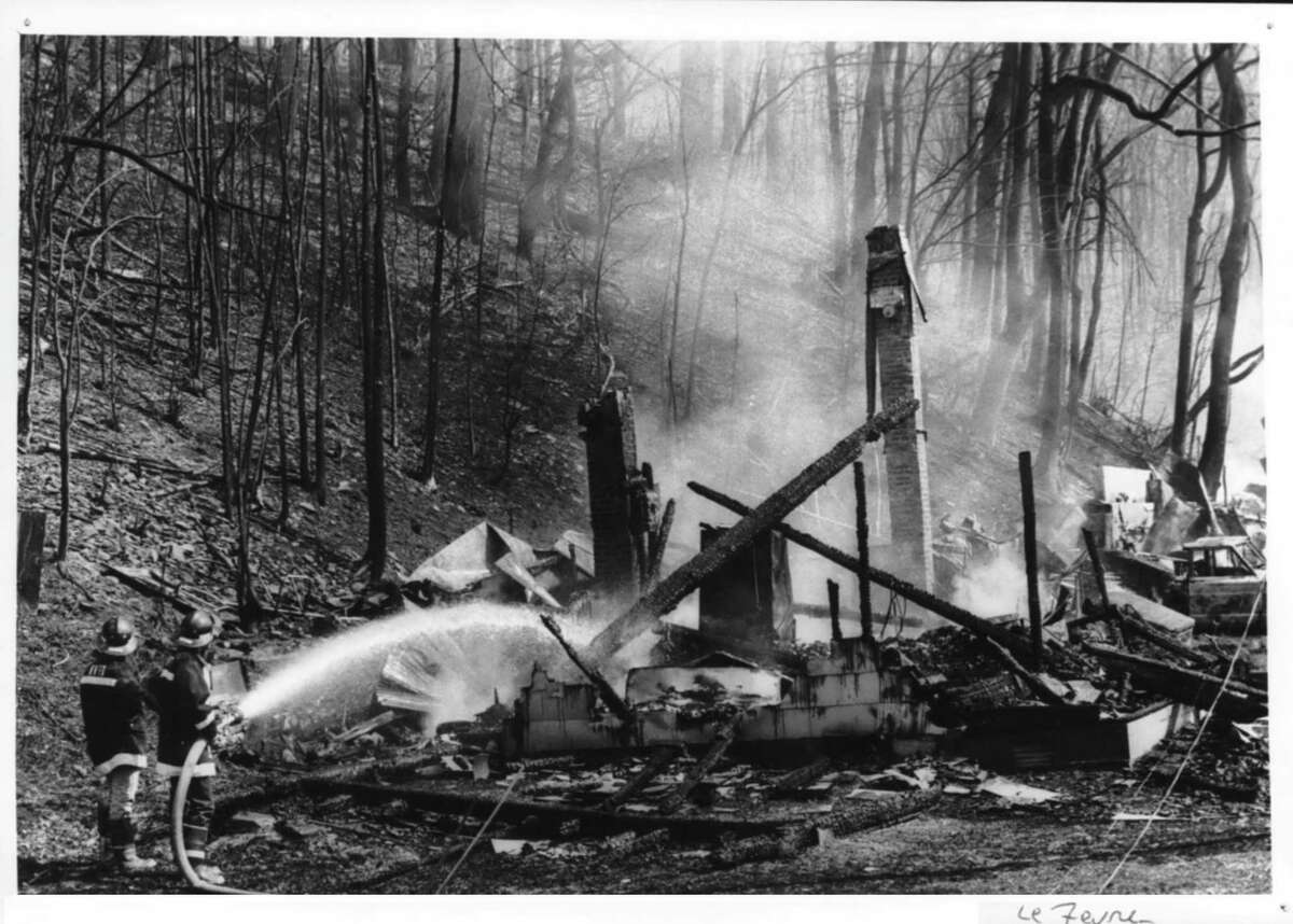 North Blenheim, New York home on Route 30 destroyed by propane explosion - disaster. March 13, 1990 (Arnold LeFevre/Times Union Archive)