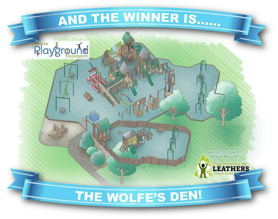 The Monroe Playground Foundation has picked a name for its new playground -- The Wolfe's Den. Photo: Monroe Playground Foundation / Contributed