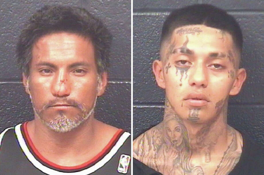 Two men have been arrested in connection with a vehicle pursuit that ended at the AutoZone on San Bernardo Avenue. Photo: Courtesy