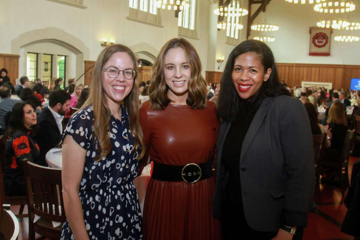 Anna Kirby, from left, Linsay Radcliffe and Janicca Stephens at Breakthrough Luncheon at St. John's School in Houston on March 2, 2020.